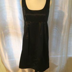 Michael Kors Empire waist Sateen Black Dress 10